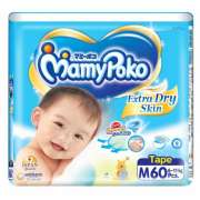 Extra Dry Diapers 62s M 6-11kg (#)