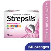 Lozenges Strawberry Sugar Free For Children 24s