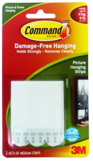 Picture Hanging Strips - 3 Sets Medium 17201