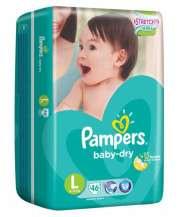 Baby Dry Diapers 46s L 9-14kg