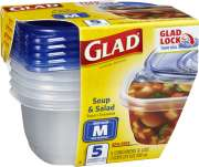 709ml Soup & Salad BPA-Free Containers (M) 5s