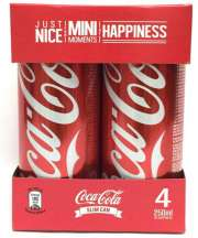 Coke Slim Can 4sX250ml