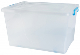 75L Storage Box W/ Wheels Blue 63x43x36cm