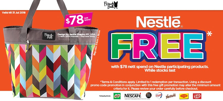 Nestle French Bull Tote Bag