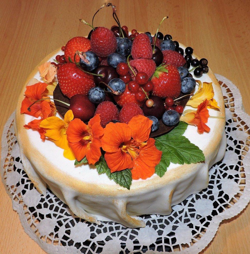 Marzipan And Fondant Fruit Cake